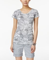 Styleandco. Style And Co. Marble Print T Shirt Only At Macy's White Black