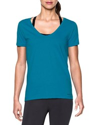 Under Armour Solid Moisture Wicking T Shirt Aqua