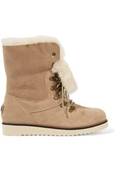Australia Luxe Collective Yael Shearling Lined Suede Ankle Boots Sand