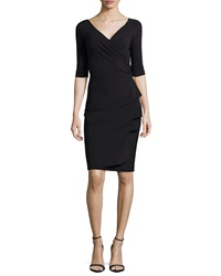 La Petite Robe Di Chiara Boni Florien 3 4 Sleeve Jersey Faux Wrap Dress