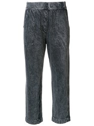 Raquel Allegra Cropped Trousers Grey