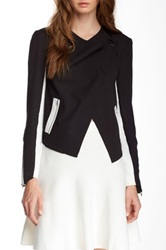 Romeo And Juliet Couture Asymmetrical Front Jacket Black