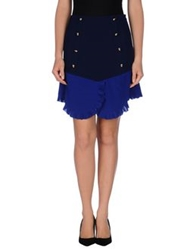 Uniqueness Mini Skirts Blue