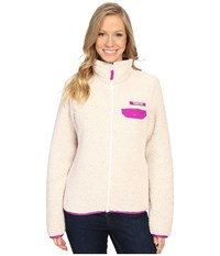 Columbia Harborside Heavy Weight Full Zip Fleece Chalk Bright Plum Women's Coat White
