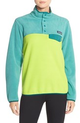 Women's Patagonia 'Synchilla' Lightweight Pullover Peppergrass Green