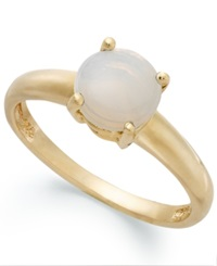 Victoria Townsend 18K Gold Over Sterling Silver Ring Opal Accent October Birthstone Ring