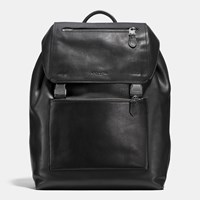 Coach Manhattan Backpack In Sport Calf Leather Black Antique Nickel Black