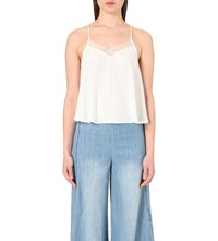 Free People Heartbeat Mesh Insert Camisole Ivory