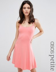 Asos Petite Cupped Sundress Coral Red
