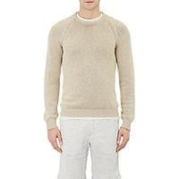 Massimo Alba Men's Chunky Crewneck Sweater Tan