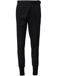 Ann Demeulemeester Lateral Buckle Detail Trousers Black