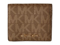 Michael Michael Kors Jet Set Travel Carryall Card Case Mocha Credit Card Wallet Brown