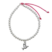 Martick Pearl Friendship Bracelet With Bird