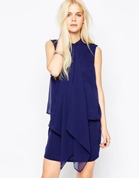 Religion Session Sleeveless Shirt Dress Blue