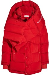 Balenciaga Oversized Quilted Shell Coat Red