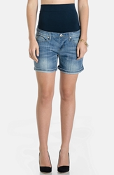 Lilac Clothing Maternity Denim Shorts Light Wash