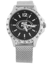 Game Time San Francisco 49Ers Cage Series Watch Silver Black