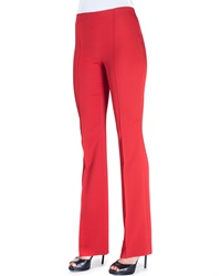 Etro Cady Side Zip Flare Leg Pants Red