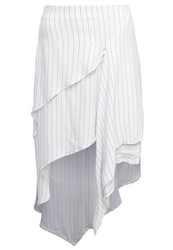 Cameo Collective Crossing Path Maxi Skirt White Black