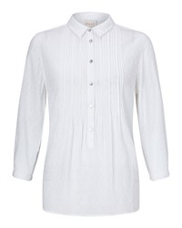 East Pintuck Dobby Shirt Winter White