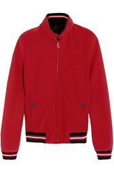 Cavalleria Toscana Hooded Twill Jacket Red