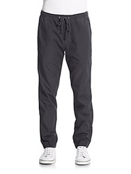 Splendid Mills Jersey Lined Drawstring Cotton Jogger Pants Navy