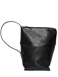 Rick Owens Leather Bucket Bag Black