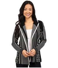 Pendleton Apres Ski Cardigan Black Vanilla Heather Women's Sweater