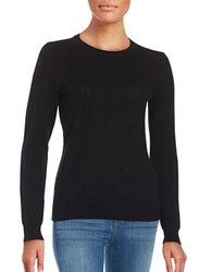 Lord And Taylor Petite Cashmere Pullover Sweater Black