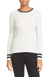 Frame Women's Rib Knit Cotton And Wool Sweater