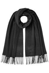 Polo Ralph Lauren Cashmere Scarf With Wool Black