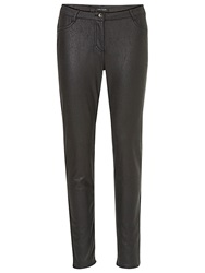 Betty Barclay Faux Leather Textured Trousers Black