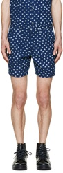 Marc By Marc Jacobs Indigo Palm Patterned Shorts