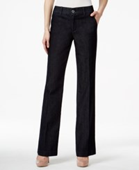 Styleandco. Style And Co. Tummy Control Denim Straight Leg Trousers Only At Macy's