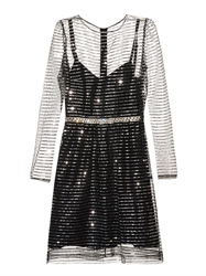 Marc Jacobs Sequin Stripe Tulle Dress