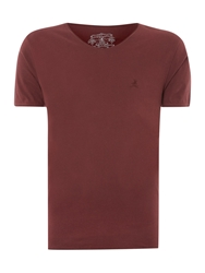 Label Lab Band Pigment Jersey Scoop Neck T Shirt Ox Blood