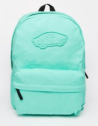 Vans Realm Backpack In Mint Green Green