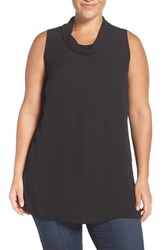 Sejour Plus Size Women's Drape Collar Sleeveless Tunic
