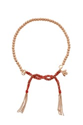 Carolina Bucci Disco Ball Tassel Bracelet Red