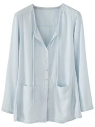 Poetry Soft Cotton Shirt Chambray