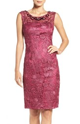 Adrianna Papell Women's Embellished Lace Sheath Dress