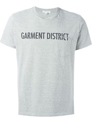 Engineered Garments Garment District Print T Shirt Grey