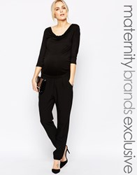 Mama Licious Mamalicious 3 4 Sleeve Formal Jumpsuit Black