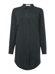 Soaked In Luxury Shirt Dress With Pockets And Buttons Green
