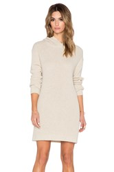 Suss Karlie Hooded Sweater Dress Cream