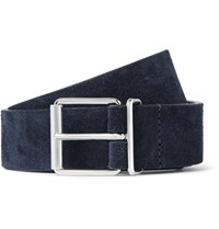 Andersons 3Cm Navy Suede Belt Blue