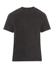 Alexander Wang Terry Cotton Blend T Shirt Charcoal