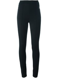 Moncler Side Stripe Skinny Trousers Black