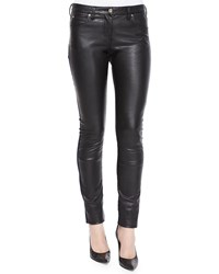 Roberto Cavalli Waxed Front Paneled Denim Jeans Women's