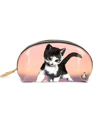 Vivienne Westwood Kitten Print Make Up Bag